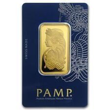 1 oz Gold Bar Pamp Suisse Lady Fortuna In Assay Veriscan Package - SKU #88907