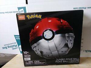 Mattel Mega Construx Pokemon Jumbo Poke Ball Buildable 303 Pieces