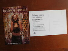 BRITNEY SPEARS Oops I did it again postcard