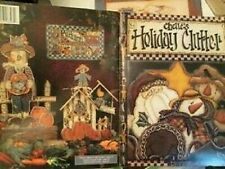 Chelle's Holiday Clutter Painting Book -Krieger-Santas/Nativity/Gingerbread Men/