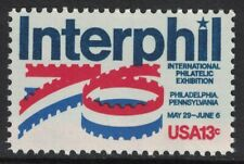 Scott 1632- Interphil, Philatelic Exhibition- 13c MNH 1976- unused mint stamp