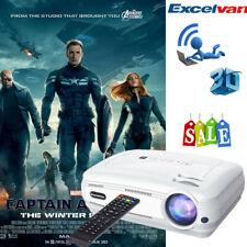 6000Lumens WIFI Android6 Vidéo Projecteur Home Cinéma 3D 1080P BT ATV 2*HDMI EU