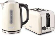 Haden Tunbridge Kettle and Toaster Set Cream Rapid Boil 1.7 Litre Kettle BPA