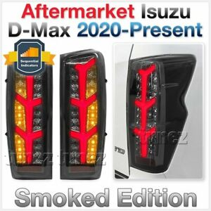 Smoke Avant Black Sequential LED Tail Lights Lamp for Isuzu D-Max DMax 2021 2022