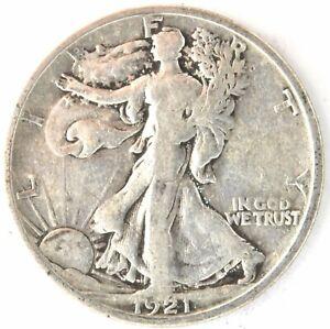 1921 S Standing Liberty Half Dollar US 90% Silver Coin 50 Cent San Francisco