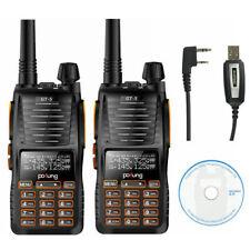 2×Baofeng/Pofung *GT-5* + USB CAVO Radio PMR Ricetrasmittente Walkie Talkies