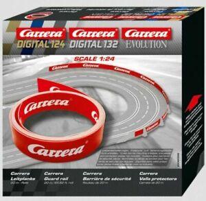 Carrera Evo,D132/124 Carrera Guard Rail 20m Roll