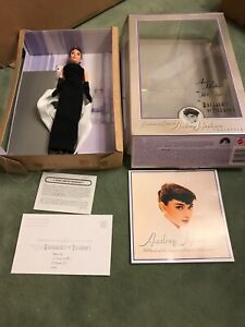 Audrey Hepburn Barbie Doll Breakfast at Tiffany's Givenchy Black Gown EXC