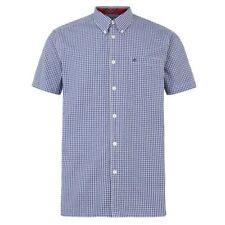 Camicie casual e maglie da uomo blu con Fantasia Scacchi, quadretti taglia XXL