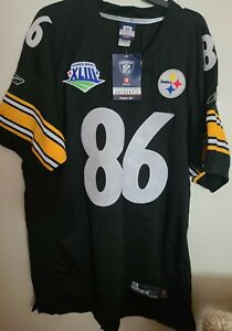NWT AUTHENTIC HINES WARD PITTSBURGH STEELERS SIZE 56 SEWN   BLACK SUPER BOWL #86