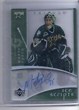 07-08 2007-08 UD TRILOGY MARTY TURCO AUTOGRAPH ICE SCRIPTS IS-MT DALLAS STARS