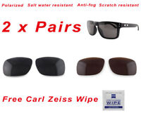 2 x Polarized Replacement Lenses For-Oakley Holbrook 9102 Sunglasses Black Brown