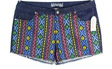 NEW Crystal Vogue Multicolor Womens Size 24 3XL Shorts Stretch Embroidered