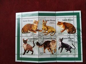 Guinea bissau stamp sheet precancel mnh