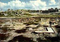 HÖRNUM Sylt um 1970 Miniatur-Golfplatz in den Dünen Ansichtskarte ungelaufen