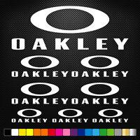 compatible OAKLEY 8 Stickers Autocollants Adhésifs  Moto Voiture Sponsor Marques