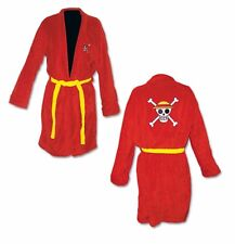One Piece Luffy Jolly Roger Anime Adult Hooded Bathrobe