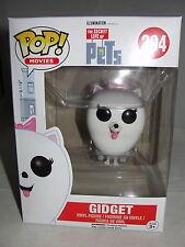 Funko Pop Movies Animation Secret Life Of Pets Gidget Vinyl Figure-New