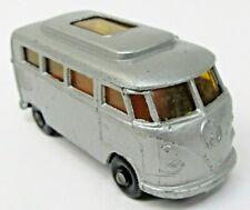 Matchbox #34 VW VOLKSWAGEN CAMPER silver black plastic wheels diecast LOW ROOF