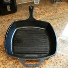 "Vintage Lodge USA Cast Iron Grill Pan Skillet 10.5"" Large Square Griddle"