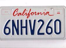 California 2007 License Plate /  6NHV260