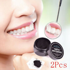 2PCS ACTIVATED CARBON CHARCOAL 100% NATURAL TEETH WHITENING COCONUT COCO POWDER