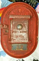 Gamewell Vintage Cast Iron Fire Alarm Call Box with Keyguard 16 NO Key