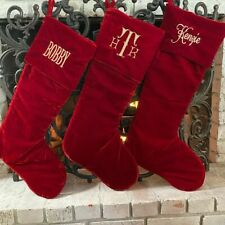 Christmas traditional red personalized velvet stockings, Customized Stocking