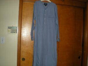 Brooks Brothers Men's Blue 100% Cotton Night Shirt - Size Large