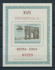 [105514] Paraguay 1963 Olympic Games Rome 1960 Souvenir Sheet MNH