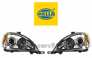 New! Mercedes-Benz Pair Set of Left and Right Halogen Headlights Hella