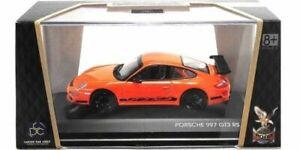 PORSCHE 911 997 GT3 RS ORANGE BLACK STRIPES SIGNATURE 43204 1/43 lucky die cast