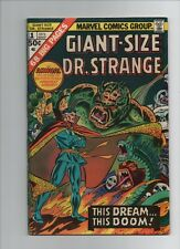 Giant Size Dr Strange #1 - Awesome Monster Cover - 1975 (Grade 7.0) Wh