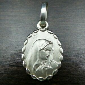 Vintage European Sterling Silver Christian Virgin Mary Protective Pendant/Charm