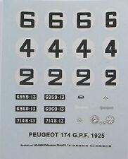 CCC 1/43e: décalcomanies: Peugeot 174S GPF 1925