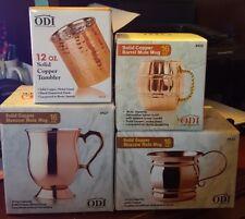 ODI Solid Copper Mugs & Tumbler - New