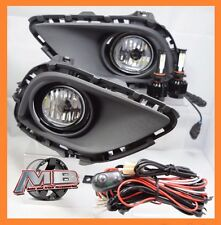 2013 14 2015 Mazda CX-9 Clear Fog Light Kit H11 CREE LED UPGRADE wiring+switch