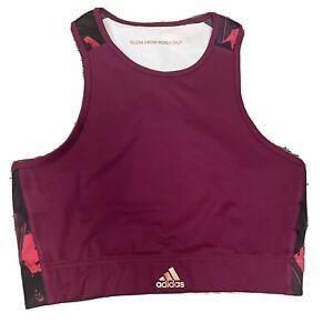 NWOT Adidas x Zoe Saldana Womens Medium High Neck Racerback Sports Bra GM6599