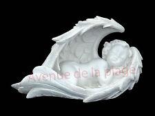 Figurine ange endormi dans ses ailes 16 cm déco baptême décoration baptème  neuf