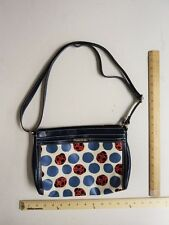Women's RELIC Navy Blue  Purse Hand Bag Tote CUTE Red Lady Bugs FLASHSALE