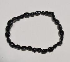 Bracelet grains tourmaline noire - Natural black tourmaline bead bracelet