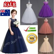 Flower Girl Dress Navy White Purple Girls Dress Size 4 to 14