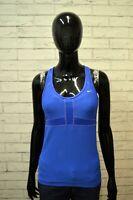 Maglia Canotta Blu Donna NIKE DRI FIT Taglia Size M Maglietta Shirt Woman Top