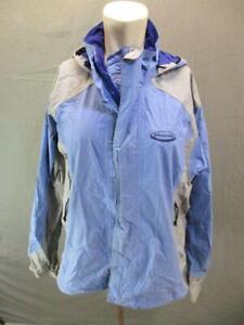 Patagonia Size L Mens Blue Full Zip Waterproof Mesh Lined Hooded Ski Jacket T823