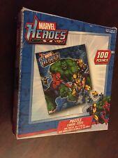 Marvel Heroes  100 Piece jig saw  Puzzle Spider Man hulk New