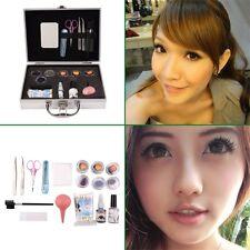 Professional False Extension Eyelash Glue Brush Kit with Case Box Salon Tool JL