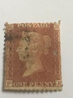 victorian penny red - large crown .perf 14 . red/ brown. p - e