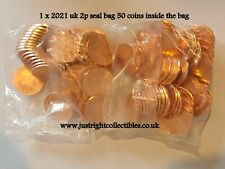 More details for 2021 2p penny shield two pence coin uncirculated seal bag uk free fast shipping