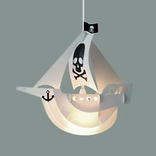 Boys Childrens Bedroom Pirate Ship Boat Ceiling Pendant Light Lamp Shade Lights