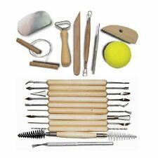 19-pc Pottery Clay Sculpting Tool Combination Set Shapers Sculpting